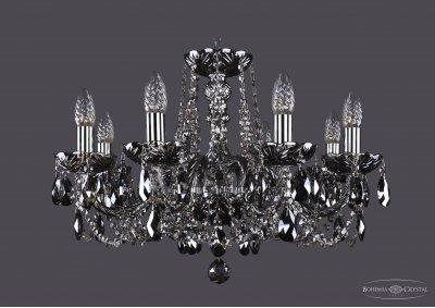 Люстра хрустальная Bohemia Ivele 1402/8/195/Ni/M781Подвесные<br><br><br>S освещ. до, м2: 24<br>Тип товара: Люстра хрустальная<br>Тип лампы: накаливания / энергосбережения / LED-светодиодная<br>Тип цоколя: E14<br>Количество ламп: 8<br>MAX мощность ламп, Вт: 60<br>Размеры: Диаметр - 57см<br>Цвет арматуры: Никель