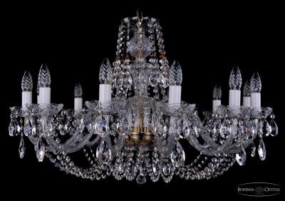 Люстра хрустальная Bohemia Ivele 1406/12/300/PaПодвесные<br><br><br>Установка на натяжной потолок: Да<br>S освещ. до, м2: 32<br>Крепление: Крюк<br>Тип товара: Люстра хрустальная<br>Тип лампы: накаливания / энергосбережения / LED-светодиодная<br>Тип цоколя: E14<br>Количество ламп: 12<br>MAX мощность ламп, Вт: 60<br>Диаметр, мм мм: 820<br>Размеры: Диаметр - 82см<br>Высота, мм: 530<br>Цвет арматуры: бронзовый