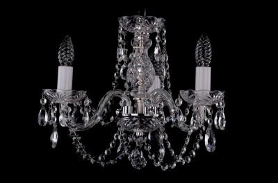 Люстра хрустальная Bohemia Ivele 1406/3/141/NiПодвесные<br><br><br>Установка на натяжной потолок: Да<br>S освещ. до, м2: 8<br>Крепление: Крюк<br>Тип товара: Люстра хрустальная<br>Тип лампы: накаливания / энергосбережения / LED-светодиодная<br>Тип цоколя: E14<br>Количество ламп: 3<br>MAX мощность ламп, Вт: 60<br>Диаметр, мм мм: 440<br>Размеры: Диаметр - 42см<br>Высота, мм: 340<br>Цвет арматуры: серый