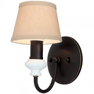 Светильник бра Favourite 1410-1wРустика<br><br><br>S освещ. до, м2: 2<br>Тип лампы: накаливания / энергосбережения / LED-светодиодная<br>Тип цоколя: E14<br>Количество ламп: 1<br>Ширина, мм: 102<br>MAX мощность ламп, Вт: 40<br>Диаметр, мм мм: 150<br>Размеры: W102*H360*D150<br>Расстояние от стены, мм: 150<br>Высота, мм: 360<br>Цвет арматуры: коричневый