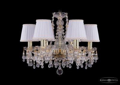 Люстра хрустальная Bohemia Ivele 1410/6/160/G/V0300/SH13AПодвесные<br><br><br>S освещ. до, м2: 18<br>Тип товара: Люстра хрустальная<br>Тип лампы: накаливания / энергосбережения / LED-светодиодная<br>Тип цоколя: E14<br>Количество ламп: 6<br>MAX мощность ламп, Вт: 60<br>Размеры: Диаметр - 48см<br>Цвет арматуры: золотой