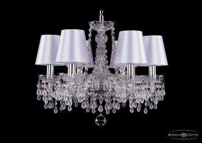 Люстра хрустальная Bohemia Ivele 1410/6/160/Ni/V0300/SH21Подвесные<br><br><br>S освещ. до, м2: 18<br>Тип товара: Люстра хрустальная<br>Тип лампы: накаливания / энергосбережения / LED-светодиодная<br>Тип цоколя: E14<br>Количество ламп: 6<br>MAX мощность ламп, Вт: 60<br>Размеры: Диаметр - 48см<br>Цвет арматуры: серебристый