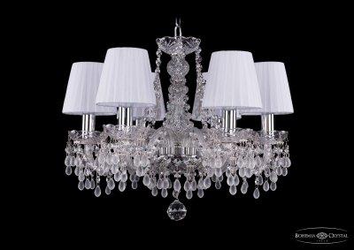 Люстра хрустальная Bohemia Ivele 1410/6/160/Ni/V0300/SH2Подвесные<br><br><br>S освещ. до, м2: 18<br>Тип товара: Люстра хрустальная<br>Тип лампы: накаливания / энергосбережения / LED-светодиодная<br>Тип цоколя: E14<br>Количество ламп: 6<br>MAX мощность ламп, Вт: 60<br>Размеры: Диаметр - 48см<br>Цвет арматуры: серебристый