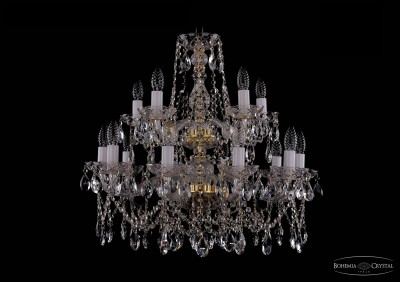 Люстра хрустальная Bohemia Ivele 1413/10+5/220-60/2d/GПодвесные<br><br><br>Установка на натяжной потолок: Да<br>S освещ. до, м2: 40<br>Крепление: Крюк<br>Тип товара: Люстра хрустальная<br>Тип лампы: накаливания / энергосбережения / LED-светодиодная<br>Тип цоколя: E14<br>Количество ламп: 15<br>MAX мощность ламп, Вт: 60<br>Диаметр, мм мм: 660<br>Размеры: Диаметр - 66см<br>Высота, мм: 610<br>Цвет арматуры: золотой