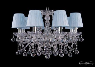 Люстра хрустальная Bohemia Ivele 1413/8/200/Ni/Balls/SH4Подвесные<br><br><br>S освещ. до, м2: 24<br>Тип товара: Люстра хрустальная<br>Тип лампы: накаливания / энергосбережения / LED-светодиодная<br>Тип цоколя: E14<br>Количество ламп: 8<br>MAX мощность ламп, Вт: 60<br>Размеры: Диаметр - 57см<br>Цвет арматуры: Никель