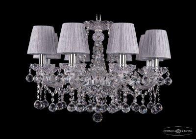Люстра хрустальная Bohemia Ivele 1413/8/200/Ni/Balls/SH6Подвесные<br><br><br>S освещ. до, м2: 24<br>Тип товара: Люстра хрустальная<br>Тип лампы: накаливания / энергосбережения / LED-светодиодная<br>Тип цоколя: E14<br>Количество ламп: 8<br>MAX мощность ламп, Вт: 60<br>Размеры: Диаметр - 57см<br>Цвет арматуры: Никель