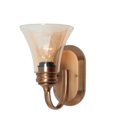 Светильник бра Favourite 1422-1WРустика<br><br><br>S освещ. до, м2: 5<br>Тип товара: Светильник настенный бра<br>Тип лампы: накаливания / энергосбережения / LED-светодиодная<br>Тип цоколя: E27<br>Количество ламп: 1<br>Ширина, мм: 157<br>MAX мощность ламп, Вт: 75<br>Диаметр, мм мм: 235<br>Высота, мм: 245<br>Цвет арматуры: бронзовый
