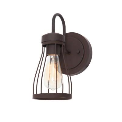 Светильник Favourite 1423-1WКованые<br><br><br>S освещ. до, м2: 4<br>Тип лампы: накаливания / энергосбережения / LED-светодиодная<br>Тип цоколя: E27<br>Количество ламп: 1<br>Ширина, мм: 120<br>MAX мощность ламп, Вт: 60<br>Диаметр, мм мм: 170<br>Размеры: W120*H270*D170<br>Высота, мм: 270<br>Цвет арматуры: коричневый
