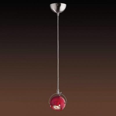 Светильник Odeon light 1432/1A никель BollaОдиночные<br><br><br>S освещ. до, м2: 3<br>Тип товара: Светильник подвесной<br>Скидка, %: 41<br>Тип лампы: галогенная / LED-светодиодная<br>Тип цоколя: GU10<br>Количество ламп: 1<br>Ширина, мм: 100<br>MAX мощность ламп, Вт: 50<br>Длина, мм: 120<br>Высота, мм: 1900<br>Цвет арматуры: серый