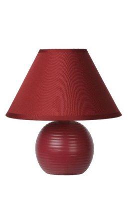 настольная лампа Lucide 14550/81/57 KADDYКрасные настольные лампы<br>Настольная лампа – это не просто источник дополнительного освещения, но и оригинальный элемент декора. Его можно установить в спальне, гостиной, кабинете и других комнатах. Интернет-магазин «Светодом» предлагает настольные лампы разных стилей по доступным ценам. Благодаря большому ассортименту Вы обязательно найдете в нашем каталоге именно ту модель, которую искали.   Настольная лампа Lucide 14550/81/57 – прекрасный вариант для завершения интерьера. Ее можно включить одновременно с люстрой для более яркого освещения или без нее для создания уютной атмосферы, настраивающей на отдых.   Купить настольную лампу Lucide 14550/81/57 Вы можете с помощью виртуальной «Корзины» или по контактным номерам, указанным на сайте.<br><br>Тип лампы: накал-я - энергосбер-я<br>Тип цоколя: E14<br>Цвет арматуры: красный (бордовый)<br>Количество ламп: 1<br>Диаметр, мм мм: 200<br>Высота, мм: 210<br>Оттенок (цвет): красный