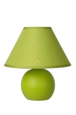 настольная лампа Lucide 14550/81/85 KADDYЗеленые<br>Настольная лампа – это не просто источник дополнительного освещения, но и оригинальный элемент декора. Его можно установить в спальне, гостиной, кабинете и других комнатах. Интернет-магазин «Светодом» предлагает настольные лампы разных стилей по доступным ценам. Благодаря большому ассортименту Вы обязательно найдете в нашем каталоге именно ту модель, которую искали.   Настольная лампа Lucide 14550/81/85 – прекрасный вариант для завершения интерьера. Ее можно включить одновременно с люстрой для более яркого освещения или без нее для создания уютной атмосферы, настраивающей на отдых.   Купить настольную лампу Lucide 14550/81/85 Вы можете с помощью виртуальной «Корзины» или по контактным номерам, указанным на сайте.<br><br>Тип лампы: накал-я - энергосбер-я<br>Тип цоколя: E14<br>Цвет арматуры: зеленый<br>Количество ламп: 1<br>Диаметр, мм мм: 200<br>Высота, мм: 210<br>Оттенок (цвет): зеленый