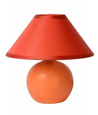 настольная лампа Lucide 14552/81/53 FAROКрасные<br>Настольная лампа – это не просто источник дополнительного освещения, но и оригинальный элемент декора. Его можно установить в спальне, гостиной, кабинете и других комнатах. Интернет-магазин «Светодом» предлагает настольные лампы разных стилей по доступным ценам. Благодаря большому ассортименту Вы обязательно найдете в нашем каталоге именно ту модель, которую искали.   Настольная лампа Lucide 14552/81/53 – прекрасный вариант для завершения интерьера. Ее можно включить одновременно с люстрой для более яркого освещения или без нее для создания уютной атмосферы, настраивающей на отдых.   Купить настольную лампу Lucide 14552/81/53 Вы можете с помощью виртуальной «Корзины» или по контактным номерам, указанным на сайте.<br><br>S освещ. до, м2: 2<br>Тип лампы: накал-я - энергосбер-я<br>Тип цоколя: E14<br>Цвет арматуры: оранжевый<br>Количество ламп: 1<br>Диаметр, мм мм: 200<br>Высота, мм: 210<br>Оттенок (цвет): оранжевый<br>MAX мощность ламп, Вт: 40