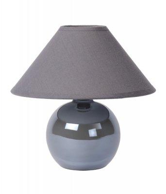 настольная лампа Lucide 14553/81/36 FAROДекоративные<br>Настольная лампа – это не просто источник дополнительного освещения, но и оригинальный элемент декора. Его можно установить в спальне, гостиной, кабинете и других комнатах. Интернет-магазин «Светодом» предлагает настольные лампы разных стилей по доступным ценам. Благодаря большому ассортименту Вы обязательно найдете в нашем каталоге именно ту модель, которую искали. <br> Настольная лампа Lucide 14553/81/36 – прекрасный вариант для завершения интерьера. Ее можно включить одновременно с люстрой для более яркого освещения или без нее для создания уютной атмосферы, настраивающей на отдых. <br> Купить настольную лампу Lucide 14553/81/36 Вы можете с помощью виртуальной «Корзины» или по контактным номерам, указанным на сайте.<br><br>S освещ. до, м2: 2<br>Тип лампы: накал-я - энергосбер-я<br>Тип цоколя: E14<br>Цвет арматуры: серый<br>Количество ламп: 1<br>Диаметр, мм мм: 200<br>Высота, мм: 210<br>Оттенок (цвет): серый<br>MAX мощность ламп, Вт: 40