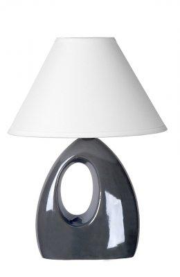 настольная лампа Lucide 14558/81/36 HOALСовременные<br>Настольная лампа – это не просто источник дополнительного освещения, но и оригинальный элемент декора. Его можно установить в спальне, гостиной, кабинете и других комнатах. Интернет-магазин «Светодом» предлагает настольные лампы разных стилей по доступным ценам. Благодаря большому ассортименту Вы обязательно найдете в нашем каталоге именно ту модель, которую искали.   Настольная лампа Lucide 14558/81/36 – прекрасный вариант для завершения интерьера. Ее можно включить одновременно с люстрой для более яркого освещения или без нее для создания уютной атмосферы, настраивающей на отдых.   Купить настольную лампу Lucide 14558/81/36 Вы можете с помощью виртуальной «Корзины» или по контактным номерам, указанным на сайте.<br><br>S освещ. до, м2: 2<br>Тип лампы: накаливания / энергосбережения / LED-светодиодная<br>Тип цоколя: E14<br>Цвет арматуры: серый<br>Количество ламп: 1<br>Ширина, мм: 140<br>Длина, мм: 200<br>Высота, мм: 280<br>Оттенок (цвет): белый<br>MAX мощность ламп, Вт: 40