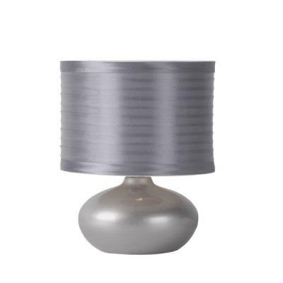 настольная лампа Lucide 14559/81/36 TINAДекоративные настольные лампы<br>Настольная лампа – это не просто источник дополнительного освещения, но и оригинальный элемент декора. Его можно установить в спальне, гостиной, кабинете и других комнатах. Интернет-магазин «Светодом» предлагает настольные лампы разных стилей по доступным ценам. Благодаря большому ассортименту Вы обязательно найдете в нашем каталоге именно ту модель, которую искали. <br> Настольная лампа Lucide 14559/81/36 – прекрасный вариант для завершения интерьера. Ее можно включить одновременно с люстрой для более яркого освещения или без нее для создания уютной атмосферы, настраивающей на отдых. <br> Купить настольную лампу Lucide 14559/81/36 Вы можете с помощью виртуальной «Корзины» или по контактным номерам, указанным на сайте.<br><br>S освещ. до, м2: 2<br>Тип лампы: накал-я - энергосбер-я<br>Тип цоколя: E14<br>Цвет арматуры: серый<br>Количество ламп: 1<br>Диаметр, мм мм: 160<br>Высота, мм: 240<br>Оттенок (цвет): серый<br>MAX мощность ламп, Вт: 40