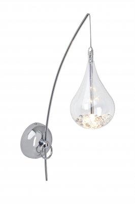 Светильник бра Brilliant G14710/15 MairaБра хай тек стиля<br>Зачастую мы ищем идеальное освещение для своего дома и уделяем этому достаточно много времени. Так, например, если нам нужен светильник с количеством ламп - 1 и цвет плафонов должен быть - прозрачный, а материал плафонов только стекло! То нам, как вариант, подойдет модель - Бра Brilliant G14710/15.<br><br>S освещ. до, м2: 1<br>Тип лампы: галогенная / LED-светодиодная<br>Тип цоколя: G4<br>Цвет арматуры: серебристый<br>Количество ламп: 1<br>Ширина, мм: 110<br>Высота, мм: 510<br>MAX мощность ламп, Вт: 20