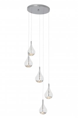 Люстра подвесная Brilliant G14773/15 MairaПодвесные<br>Зачастую мы ищем идеальное освещение для своего дома и уделяем этому достаточно много времени. Так, например, если нам нужен светильник с количеством ламп - 5 и цвет плафонов должен быть - прозрачный, а материал плафонов только стекло! То нам, как вариант, подойдет модель подвесного светильника Brilliant G14773/15.<br><br>Установка на натяжной потолок: Да<br>S освещ. до, м2: 6<br>Крепление: Планка<br>Тип лампы: галогенная / LED-светодиодная<br>Тип цоколя: G4<br>Количество ламп: 5<br>MAX мощность ламп, Вт: 20<br>Диаметр, мм мм: 410<br>Высота, мм: 1450<br>Цвет арматуры: серебристый