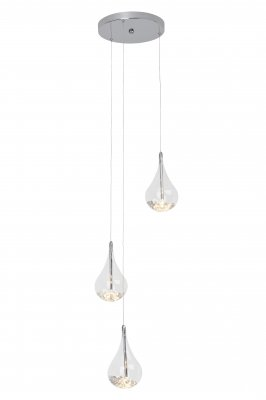 Люстра капли Brilliant G14776/15 MairaТройные<br>Зачастую мы ищем идеальное освещение для своего дома и уделяем этому достаточно много времени. Так, например, если нам нужен светильник с количеством ламп - 3 и цвет плафонов должен быть - прозрачный, а материал плафонов только стекло! То нам, как вариант, подойдет модель подвесного светильника Brilliant G14776/15.<br><br>S освещ. до, м2: 4<br>Тип товара: Люстра<br>Тип лампы: галогенная / LED-светодиодная<br>Тип цоколя: G4<br>Количество ламп: 3<br>MAX мощность ламп, Вт: 20<br>Диаметр, мм мм: 330<br>Высота, мм: 1450<br>Цвет арматуры: серебристый