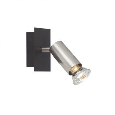 Спот Brilliant G14810/76 NubiaОдиночные<br>Зачастую мы ищем идеальное освещение для своего дома и уделяем этому достаточно много времени. Так, например, если нам нужен светильник с количеством ламп - 1 и цвет плафонов должен быть - хром, а материал плафонов только металл! То нам, как вариант, подойдет модель - спот Brilliant G14810/76.<br><br>S освещ. до, м2: 2<br>Тип товара: Светильник поворотный спот<br>Тип лампы: галогенная / LED-светодиодная<br>Тип цоколя: GU10<br>Количество ламп: 1<br>Ширина, мм: 100<br>MAX мощность ламп, Вт: 42<br>Высота, мм: 95<br>Цвет арматуры: черный