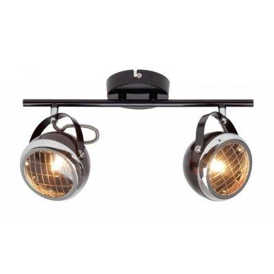 Светильник Brilliant G14913/06 RiderДвойные<br>Зачастую мы ищем идеальное освещение для своего дома и уделяем этому достаточно много времени. Так, например, если нам нужен светильник с количеством ламп - 2 и цвет плафонов должен быть - черный, хром, а материал плафонов только стекло! То нам, как вариант, подойдет модель - система спотов Brilliant G14913/06.<br><br>S освещ. до, м2: 4<br>Тип лампы: галогенная / LED-светодиодная<br>Тип цоколя: G9<br>Количество ламп: 2<br>Ширина, мм: 370<br>MAX мощность ламп, Вт: 33<br>Выступ, мм: 140<br>Длина, мм: 370<br>Высота, мм: 220<br>Цвет арматуры: черный