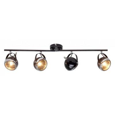 Светильник Brilliant G14932/06 RiderС 4 лампами<br>Зачастую мы ищем идеальное освещение для своего дома и уделяем этому достаточно много времени. Так, например, если нам нужен светильник с количеством ламп - 4 и цвет плафонов должен быть - черный, хром, а материал плафонов только стекло! То нам, как вариант, подойдет модель - система спотов Brilliant G14932/06.<br><br>S освещ. до, м2: 8<br>Тип лампы: галогенная / LED-светодиодная<br>Тип цоколя: G9<br>Цвет арматуры: черный<br>Количество ламп: 4<br>Ширина, мм: 830<br>Выступ, мм: 140<br>Длина, мм: 830<br>Высота, мм: 220<br>MAX мощность ламп, Вт: 33