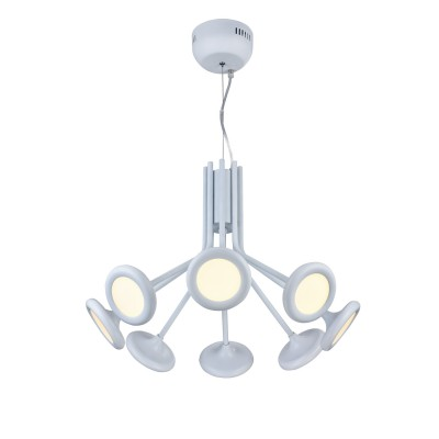 Люстра Favourite 1518-8PПодвесные<br><br><br>Установка на натяжной потолок: Да<br>S освещ. до, м2: 2<br>Крепление: Планка<br>Тип товара: Люстра подвесная<br>Скидка, %: 57<br>Тип лампы: LED - светодиодная<br>Количество ламп: 8<br>MAX мощность ламп, Вт: 5<br>Диаметр, мм мм: 545<br>Размеры: D545*H365/1365<br>Высота, мм: 365 - 1365<br>Цвет арматуры: белый
