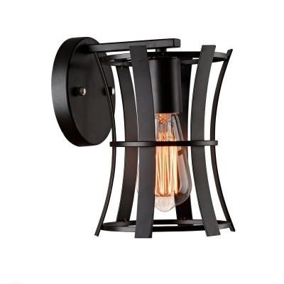 Светильник настенный Favourite 1521-1WКованые<br><br><br>Тип лампы: Накаливания / энергосбережения / светодиодная<br>Тип цоколя: E27<br>Количество ламп: 1<br>Ширина, мм: 155<br>MAX мощность ламп, Вт: 60<br>Размеры: W153*D190*H230<br>Длина, мм: 190<br>Высота, мм: 230<br>Цвет арматуры: черный