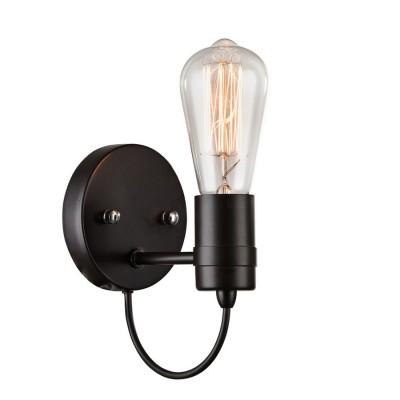 Светильник настенный Favourite 1522-1WМорской стиль<br><br><br>Тип лампы: Накаливания / энергосбережения / светодиодная<br>Тип цоколя: E27<br>Количество ламп: 1<br>MAX мощность ламп, Вт: 60<br>Размеры: W110*D140*H180<br>Цвет арматуры: черный