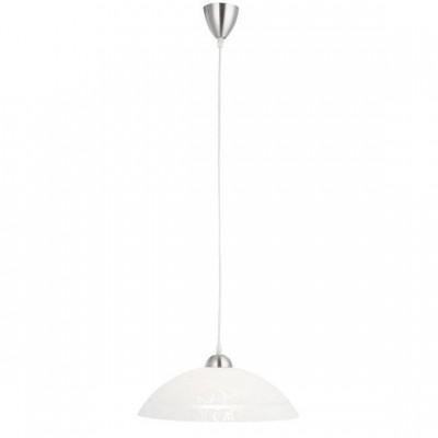 Светильник Globo 15405 Muraодиночные подвесные светильники<br><br><br>S освещ. до, м2: 4<br>Тип лампы: накал-я - энергосбер-я<br>Тип цоколя: E27<br>Цвет арматуры: никель<br>Количество ламп: 1<br>Диаметр, мм мм: 350<br>Высота, мм: 1000<br>MAX мощность ламп, Вт: 60