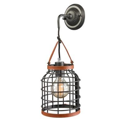 Светильник настенный бра Favourite 1580-1W NetzМорской стиль<br><br><br>Тип лампы: Накаливания / энергосбережения / светодиодная<br>Тип цоколя: E27<br>Цвет арматуры: бронзовый с чернением<br>Количество ламп: 1<br>Размеры: W170*D200*H470<br>MAX мощность ламп, Вт: 60W