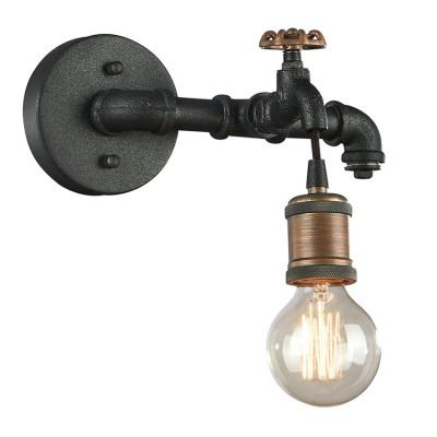 Светильник настенный бра Favourite 1581-1W FaucetМорской стиль<br><br><br>Тип лампы: Накаливания / энергосбережения / светодиодная<br>Тип цоколя: E27<br>Количество ламп: 1<br>MAX мощность ламп, Вт: 60W<br>Размеры: W290*H190*D170<br>Цвет арматуры: бронзовый с чернением