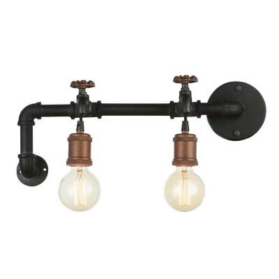 Favourite Faucet 1581-2W Светильник настенный брабра в стиле лофт<br><br><br>Тип цоколя: E27<br>Количество ламп: 2<br>Размеры: W515*D160*H190<br>MAX мощность ламп, Вт: 60