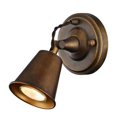 Светильник настенный бра Favourite 1582-1W GlockeМорской стиль<br><br><br>Тип лампы: галогенная/LED<br>Тип цоколя: GU10<br>Количество ламп: 1<br>MAX мощность ламп, Вт: 35W<br>Размеры: W168*H120*D150<br>Цвет арматуры: бронзовый