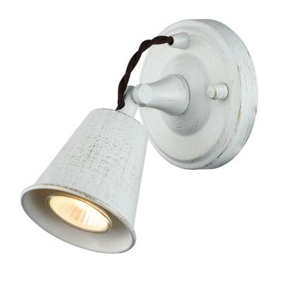 Светильник настенный бра Favourite 1583-1W GlockeМорской стиль<br><br><br>Тип лампы: галогенная/LED<br>Тип цоколя: GU10<br>Количество ламп: 1<br>MAX мощность ламп, Вт: 35W<br>Размеры: W168*H120*D150<br>Цвет арматуры: белый с золотистой патиной