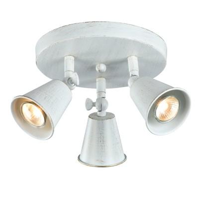 Светильник потолочный Favourite 1583-3C GlockeТройные<br>Светильники-споты – это оригинальные изделия с современным дизайном. Они позволяют не ограничивать свою фантазию при выборе освещения для интерьера. Такие модели обеспечивают достаточно качественный свет. Благодаря компактным размерам Вы можете использовать несколько спотов для одного помещения. <br>Интернет-магазин «Светодом» предлагает необычный светильник-спот Favourite 1583-3C по привлекательной цене. Эта модель станет отличным дополнением к люстре, выполненной в том же стиле. Перед оформлением заказа изучите характеристики изделия. <br>Купить светильник-спот Favourite 1583-3C в нашем онлайн-магазине Вы можете либо с помощью формы на сайте, либо по указанным выше телефонам. Обратите внимание, что у нас склады не только в Москве и Екатеринбурге, но и других городах России.<br><br>Крепление: планка<br>Тип лампы: галогенная/LED<br>Тип цоколя: GU10<br>Количество ламп: 3<br>MAX мощность ламп, Вт: 35W<br>Размеры: D220*H183<br>Цвет арматуры: белый с золотистой патиной