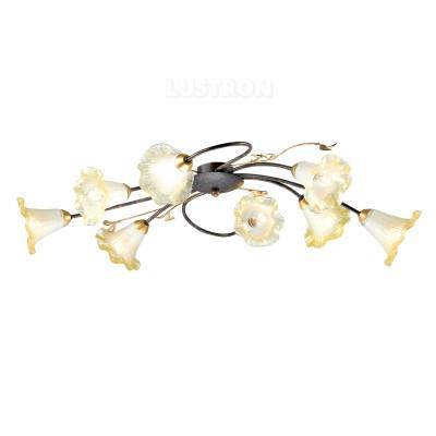 Светильник потолочный Favourite 1601-8C EderaПотолочные<br><br><br>Установка на натяжной потолок: Ограничено<br>S освещ. до, м2: 16<br>Крепление: Планка<br>Тип товара: светильник потолочный<br>Скидка, %: 68<br>Тип лампы: Накаливания / энергосбережения / светодиодная<br>Тип цоколя: E14<br>Количество ламп: 8<br>MAX мощность ламп, Вт: 40<br>Размеры: L870*W460*H200<br>Цвет арматуры: Золотой