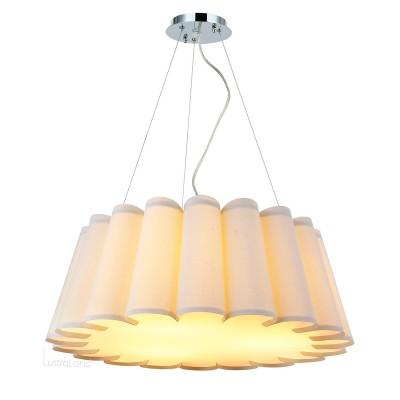 Люстра Favourite 1605-3PC GofraПодвесные<br><br><br>Установка на натяжной потолок: Ограничено<br>S освещ. до, м2: 4<br>Крепление: Планка<br>Тип товара: люстра<br>Тип лампы: Накаливания / энергосбережения / светодиодная<br>Тип цоколя: E27<br>Количество ламп: 3<br>MAX мощность ламп, Вт: 25<br>Размеры: D605*H235/1235<br>Цвет арматуры: серебристый
