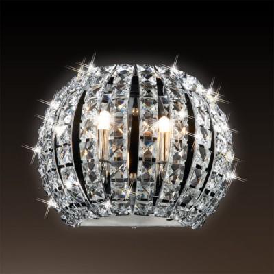 Светильник Odeon Light 1606/2W хром CristaХрустальные<br><br><br>S освещ. до, м2: 5<br>Тип лампы: галогенная / LED-светодиодная<br>Тип цоколя: G9<br>Количество ламп: 2<br>Ширина, мм: 240<br>MAX мощность ламп, Вт: 40<br>Высота, мм: 130<br>Цвет арматуры: серебристый