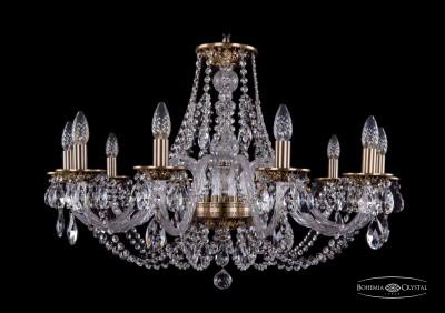 Люстра хрустальная Bohemia Ivele 1606/10/300/FPПодвесные<br><br><br>Установка на натяжной потолок: Да<br>S освещ. до, м2: 26<br>Крепление: Крюк<br>Тип товара: Люстра хрустальная<br>Тип лампы: накаливания / энергосбережения / LED-светодиодная<br>Тип цоколя: E14<br>Количество ламп: 10<br>MAX мощность ламп, Вт: 60<br>Диаметр, мм мм: 820<br>Размеры: Диаметр - 83см<br>Высота, мм: 530<br>Цвет арматуры: золотой