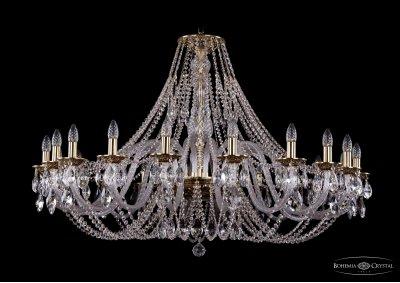 Люстра хрустальная Bohemia Ivele 1606/20/460/GBПодвесные<br><br><br>S освещ. до, м2: 60<br>Тип товара: Люстра хрустальная<br>Тип лампы: накаливания / энергосбережения / LED-светодиодная<br>Тип цоколя: E14<br>Количество ламп: 20<br>MAX мощность ламп, Вт: 60<br>Размеры: Диаметр - 127см<br>Цвет арматуры: Золото черненное