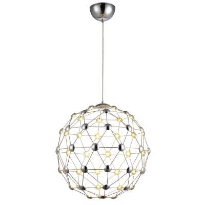 Светильник Divinare 1610/02 SP-60Подвесные<br><br><br>Тип лампы: LED - светодиодная<br>Тип цоколя: LED, встроенные светодиоды<br>Цвет арматуры: серебристый<br>Количество ламп: 60<br>Диаметр, мм мм: 530<br>Высота полная, мм: 1730<br>Высота, мм: 530<br>Поверхность арматуры: глянцевая<br>Оттенок (цвет): серебристый<br>Общая мощность, Вт: 30