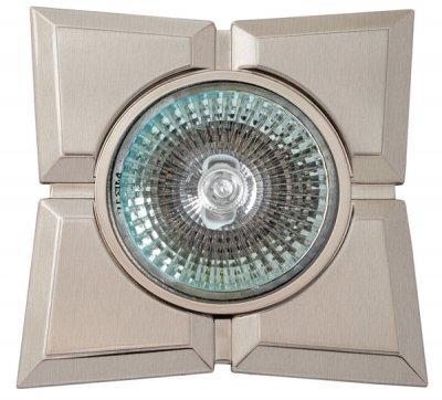 Светильник галогенный 16157 GQ MR16, квадрат 4 доли, сатин никель+хромДекоративные<br>Встраиваемые светильники – популярное осветительное оборудование, которое можно использовать в качестве основного источника или в дополнение к люстре. Они позволяют создать нужную атмосферу атмосферу и привнести в интерьер уют и комфорт.   Интернет-магазин «Светодом» предлагает стильный встраиваемый светильник Degran 16157 GQ MR16, квадрат 4 доли, сатин никель+хром. Данная модель достаточно универсальна, поэтому подойдет практически под любой интерьер. Перед покупкой не забудьте ознакомиться с техническими параметрами, чтобы узнать тип цоколя, площадь освещения и другие важные характеристики.   Приобрести встраиваемый светильник Degran 16157 GQ MR16, квадрат 4 доли, сатин никель+хром в нашем онлайн-магазине Вы можете либо с помощью «Корзины», либо по контактным номерам. Мы развозим заказы по Москве, Екатеринбургу и остальным российским городам.<br><br>S освещ. до, м2: 3<br>Тип лампы: галогенная<br>Тип цоколя: GU5.3 (MR16)<br>Количество ламп: 1<br>Ширина, мм: 90<br>MAX мощность ламп, Вт: 50<br>Диаметр врезного отверстия, мм: 75<br>Длина, мм: 90<br>Цвет арматуры: серебристый