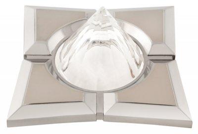 Светильник галогенный 16159 EQ MR16 квадрат 4 доли, пирамида 12 гр, перл. никель+хромДекоративные<br>Встраиваемые светильники – популярное осветительное оборудование, которое можно использовать в качестве основного источника или в дополнение к люстре. Они позволяют создать нужную атмосферу атмосферу и привнести в интерьер уют и комфорт.   Интернет-магазин «Светодом» предлагает стильный встраиваемый светильник Degran 16159 EQ MR16 квадрат 4 доли, пирамида 12 гр, перл. никель+хром. Данная модель достаточно универсальна, поэтому подойдет практически под любой интерьер. Перед покупкой не забудьте ознакомиться с техническими параметрами, чтобы узнать тип цоколя, площадь освещения и другие важные характеристики.   Приобрести встраиваемый светильник Degran 16159 EQ MR16 квадрат 4 доли, пирамида 12 гр, перл. никель+хром в нашем онлайн-магазине Вы можете либо с помощью «Корзины», либо по контактным номерам. Мы развозим заказы по Москве, Екатеринбургу и остальным российским городам.<br><br>S освещ. до, м2: 3<br>Тип лампы: галогенная<br>Тип цоколя: GU5.3 (MR16)<br>Количество ламп: 1<br>Ширина, мм: 92<br>MAX мощность ламп, Вт: 50<br>Диаметр врезного отверстия, мм: 65<br>Длина, мм: 92<br>Цвет арматуры: серебристый
