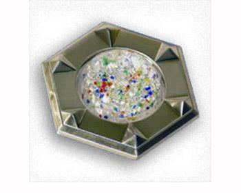 Светильник галогенный 16180 GQF MR16, цветное конфетти, сатин-никельДекоративные<br>Светильник галог. С.Г. 16180 GQF MR16, цветное конфетти, сатин-никель<br><br>S освещ. до, м2: 3<br>Тип товара: точечный встраиваемый светильник<br>Тип лампы: галогенная<br>Тип цоколя: GU5.3 (MR16)<br>Количество ламп: 1<br>MAX мощность ламп, Вт: 50<br>Цвет арматуры: серебристый