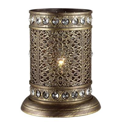 Светильник Favourite 1626-1TВосточный стиль<br>Настольная лампа – это не просто источник дополнительного освещения, но и оригинальный элемент декора. Его можно установить в спальне, гостиной, кабинете и других комнатах. Интернет-магазин «Светодом» предлагает настольные лампы разных стилей по доступным ценам. Благодаря большому ассортименту Вы обязательно найдете в нашем каталоге именно ту модель, которую искали.   Настольная лампа Favourite 1626-1T – прекрасный вариант для завершения интерьера. Ее можно включить одновременно с люстрой для более яркого освещения или без нее для создания уютной атмосферы, настраивающей на отдых.   Купить настольную лампу Favourite 1626-1T Вы можете с помощью виртуальной «Корзины» или по контактным номерам, указанным на сайте.<br><br>Тип лампы: Накаливания / энергосбережения / светодиодная<br>Тип цоколя: E14<br>Количество ламп: 1<br>MAX мощность ламп, Вт: 40<br>Размеры: D200*H250<br>Цвет арматуры: Золотой