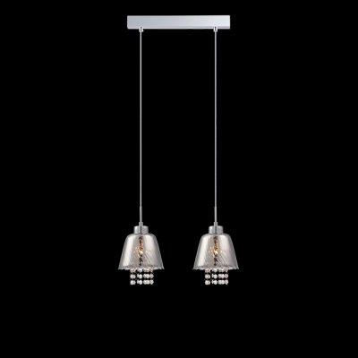 Светильник Eurosvet 1626/2 хромДвойные<br><br><br>S освещ. до, м2: 6<br>Тип лампы: накаливания / энергосбережения / LED-светодиодная<br>Тип цоколя: E14<br>Количество ламп: 2<br>Ширина, мм: 160<br>MAX мощность ламп, Вт: 60<br>Длина, мм: 350<br>Высота, мм: 260 - 910<br>Цвет арматуры: серебристый