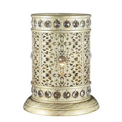 Светильник Favourite 1627-1TВосточный стиль<br>Настольная лампа – это не просто источник дополнительного освещения, но и оригинальный элемент декора. Его можно установить в спальне, гостиной, кабинете и других комнатах. Интернет-магазин «Светодом» предлагает настольные лампы разных стилей по доступным ценам. Благодаря большому ассортименту Вы обязательно найдете в нашем каталоге именно ту модель, которую искали.   Настольная лампа Favourite 1627-1T – прекрасный вариант для завершения интерьера. Ее можно включить одновременно с люстрой для более яркого освещения или без нее для создания уютной атмосферы, настраивающей на отдых.   Купить настольную лампу Favourite 1627-1T Вы можете с помощью виртуальной «Корзины» или по контактным номерам, указанным на сайте.<br><br>Тип лампы: Накаливания / энергосбережения / светодиодная<br>Тип цоколя: E14<br>Количество ламп: 1<br>MAX мощность ламп, Вт: 40<br>Размеры: D200*H250<br>Цвет арматуры: белый с золотистой патиной
