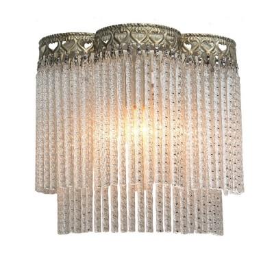 Светильник Favourite 1632-1WХрустальные<br><br><br>Тип лампы: Накаливания / энергосбережения / светодиодная<br>Тип цоколя: E14<br>Цвет арматуры: белый с золотистой патиной<br>Количество ламп: 1<br>Размеры: W240*H235*D135<br>MAX мощность ламп, Вт: 40