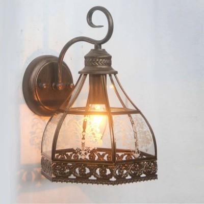 Светильник Favourite 1634-1WРустика<br><br><br>Тип лампы: Накаливания / энергосбережения / светодиодная<br>Тип цоколя: E14<br>Количество ламп: 1<br>MAX мощность ламп, Вт: 40<br>Размеры: W215*H310*D230<br>Цвет арматуры: Золотой