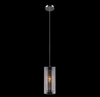 Светильник Евросвет 1636/1 хромОдиночные<br><br><br>Тип товара: Светильник подвесной<br>Тип лампы: накаливания / энергосбережения / LED-светодиодная<br>Тип цоколя: E14<br>Количество ламп: 1/1<br>MAX мощность ламп, Вт: 60<br>Диаметр, мм мм: 120<br>Высота, мм: 1050<br>Цвет арматуры: серебристый